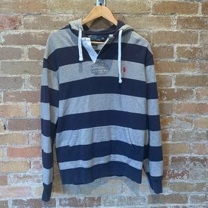Polo Rugby Hoodie Sz Large